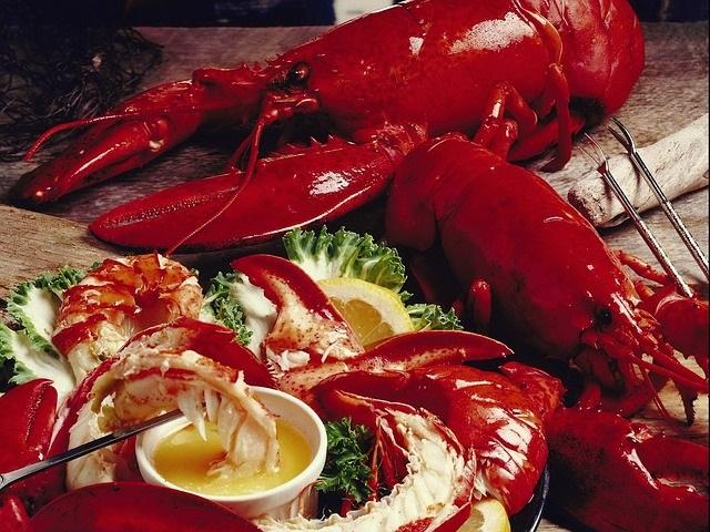 Caribbean lobster buffet